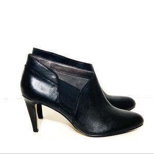 Adrienne Vittadini Tikki Black Leather Booties 8.5